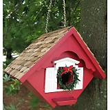 Red Christmas Wren House