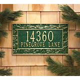Whitehall Pinecone Wall Address Plaque