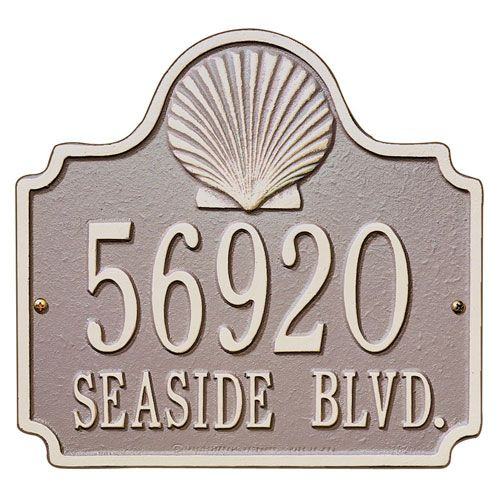Whitehall Conch Address Plaque RS