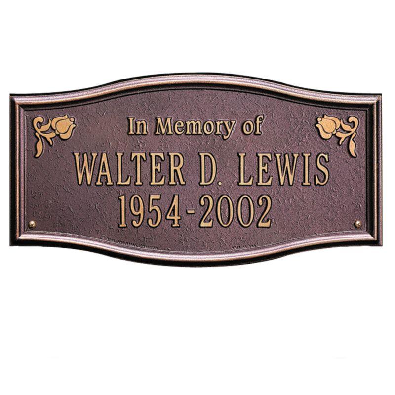 Arlington Memorial Wall Plaque In Memory Of AB