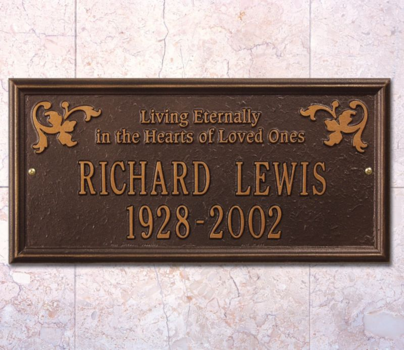 click for Full Info on this Wilmington Wall Plaque Living Eternally DS