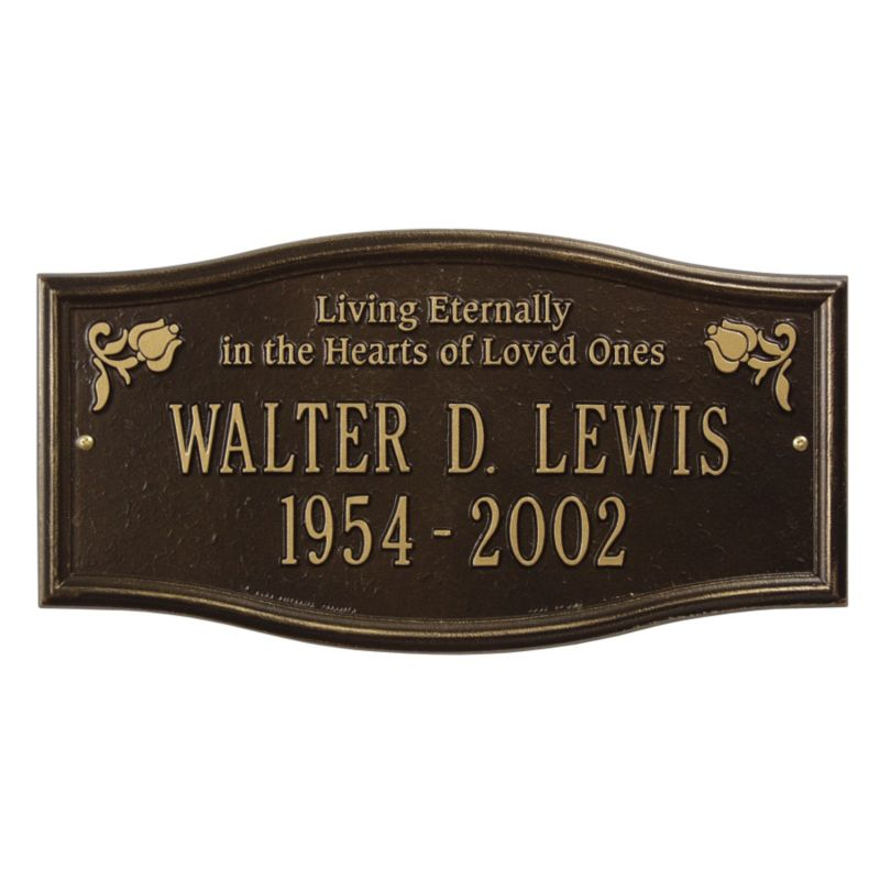 Alexandria Wall Plaque Living Eternally AB