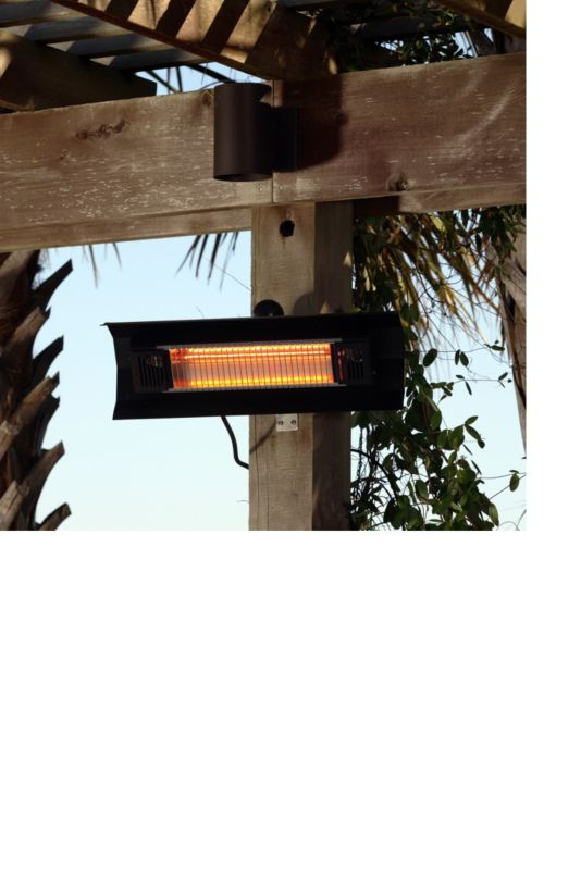 1500W Black Steel Wall Infrared Patio Heater