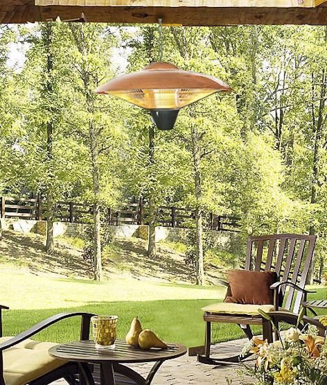 1500W Hanging Copper Finish Halogen Patio Heater