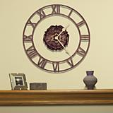 Rosette Floating Ring Clock