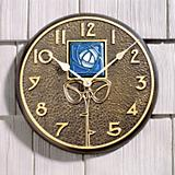 French Bronze Hunter Rose Clock
