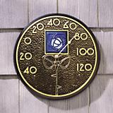 French Bronze Hunter Rose Thermometer