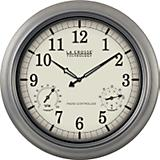 Outdoor Atomic Clock 18 Inch Pewter