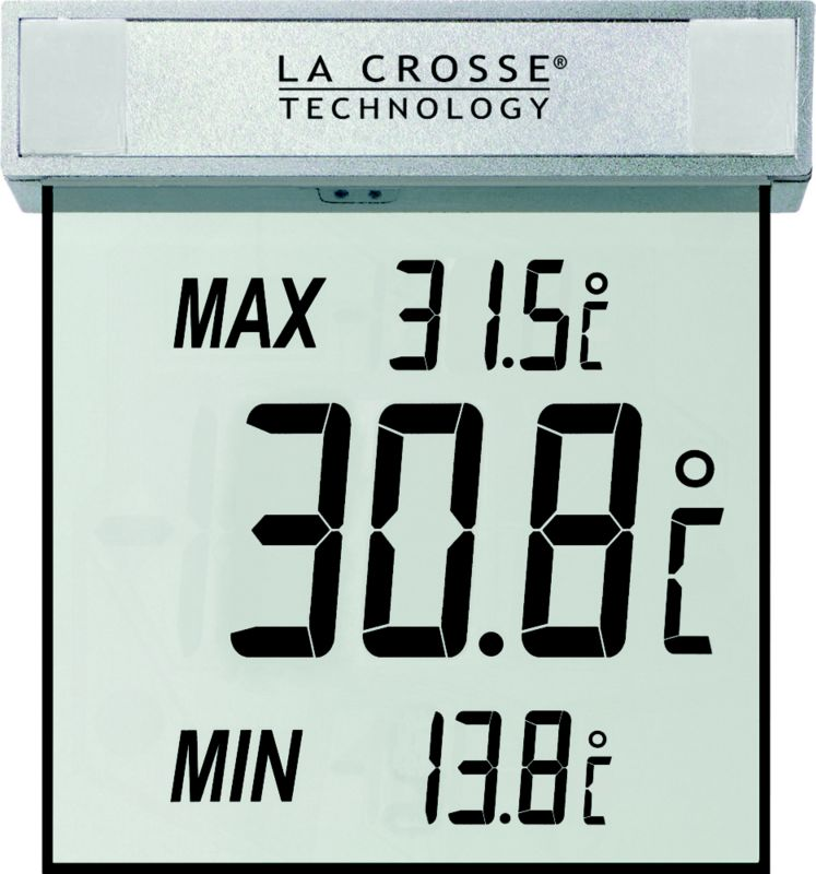 La Crosse Outdoor Window Thermometer Fahrenheit