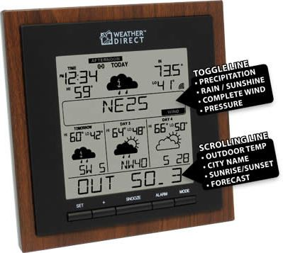 La Crosse WD-3308U-WAL Weather Forecaster