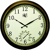 24 Inch Brass Outdoor Clock