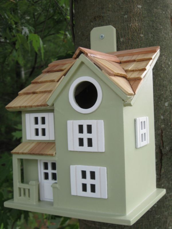 Townhouse Birdhouse Grey (HOME BAZAAR INC HB-9041GS 812673010916 Wild Bird Supplies Bird Houses) photo