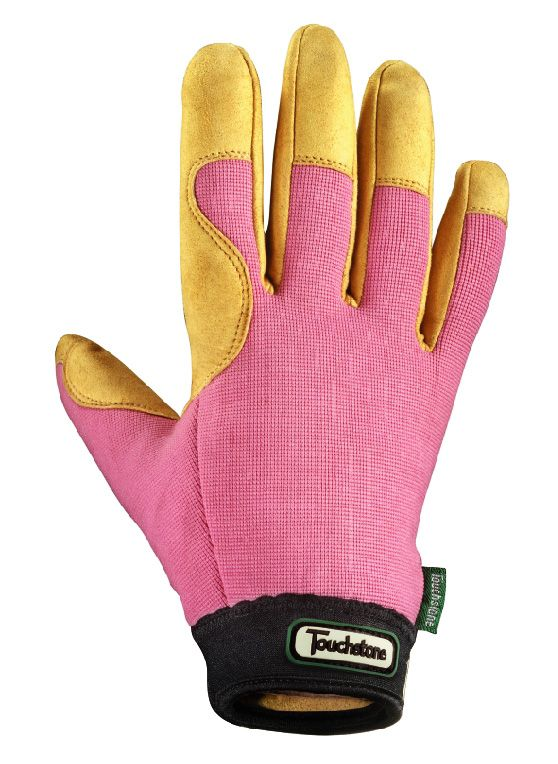 Ladies Topiary Garden Glove Large Pink Rose