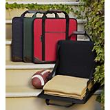 Stadium Seat with Blanket - Black
