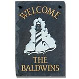Lighthouse Personalized Black Slate Plaque