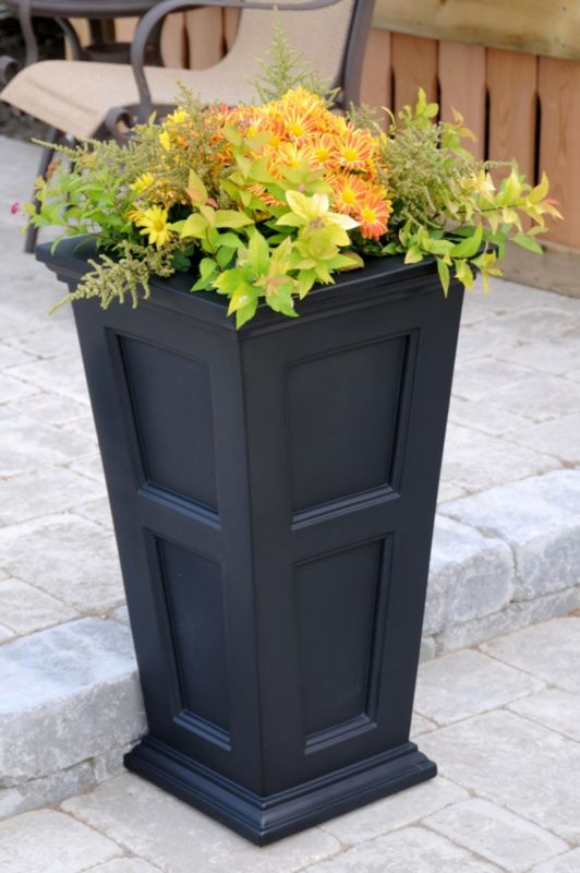 Fairfield Tall Planter Black