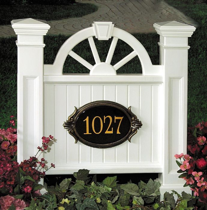 Winchester Address Sign Granite