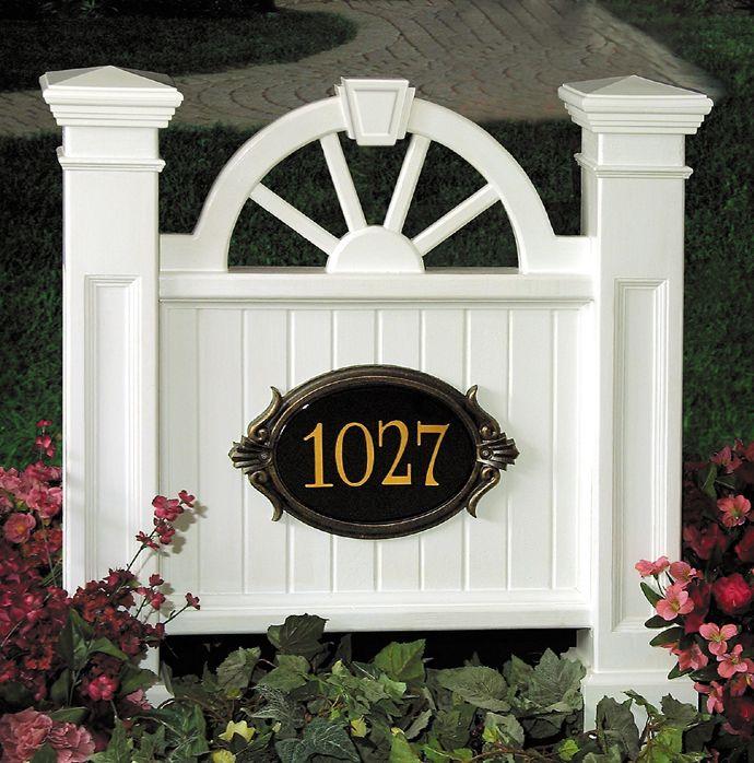Winchester Address Sign Granite