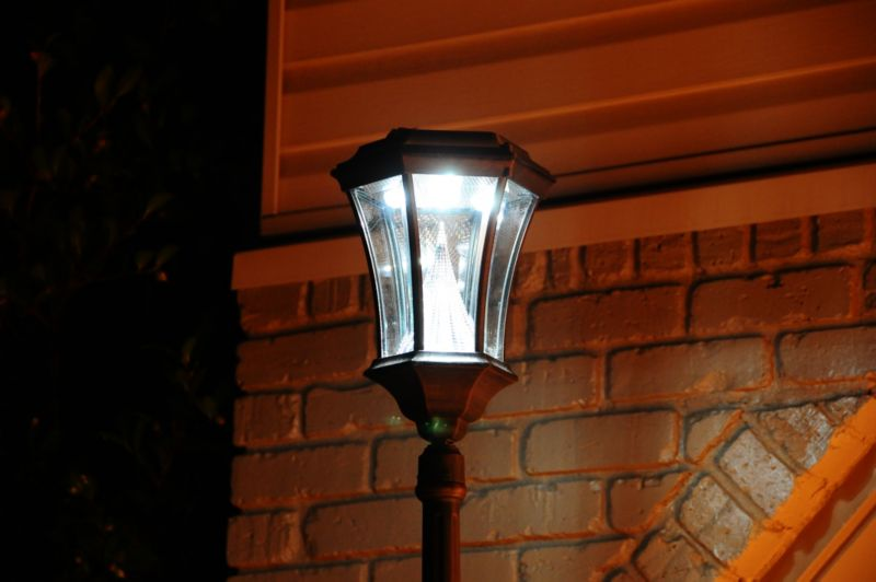 Solar Lamp Post Fixture Black Finish