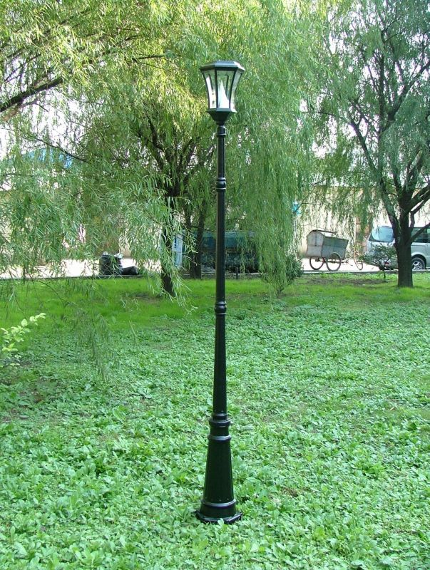 Solar Lamp Post 88in Black Finish