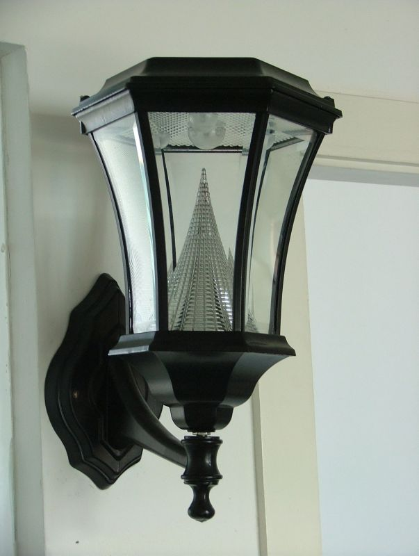 Solar Outdoor Wall Lantern Black Finish