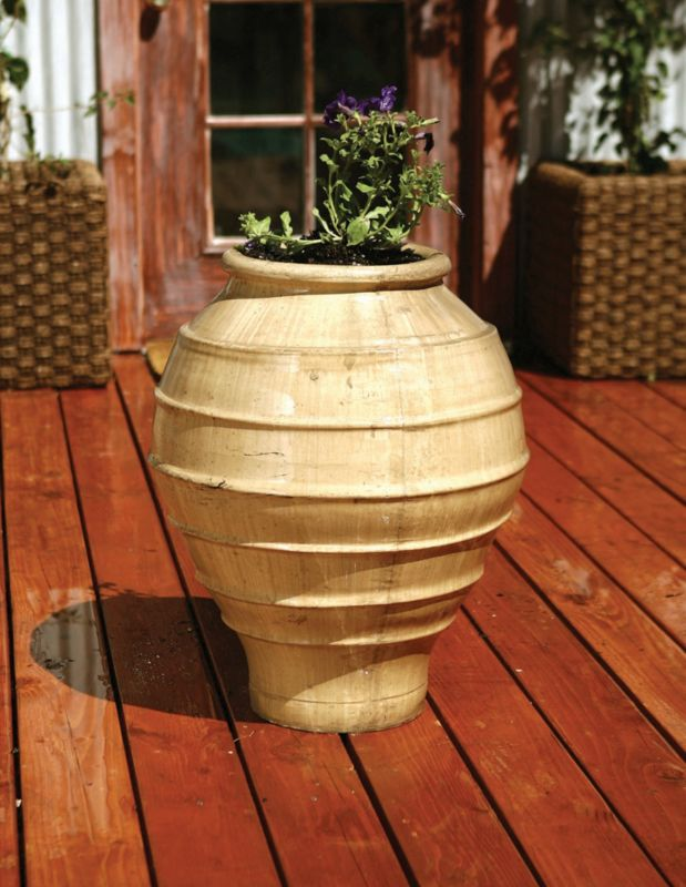 24in Greek Planter Charcoal