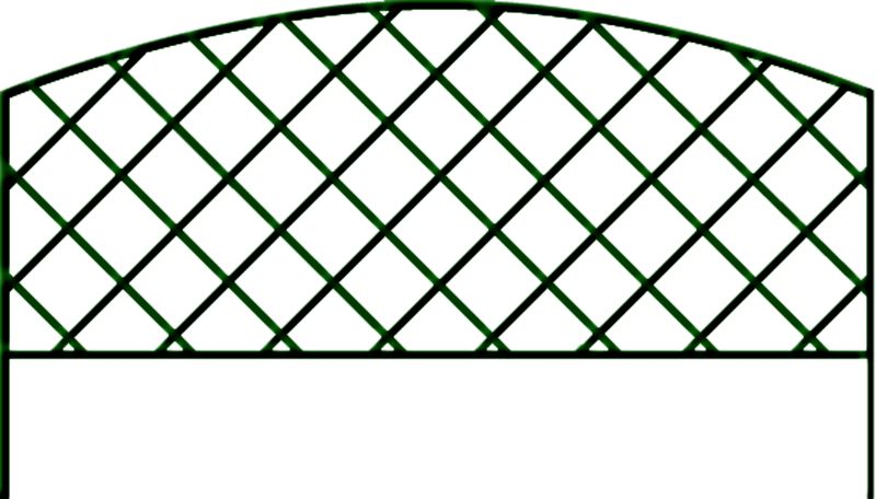 Green Lattice Edge Fence