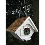White Christmas Wren House