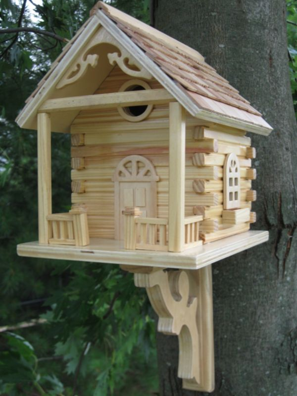 Cabin Birdhouse (Natural)
