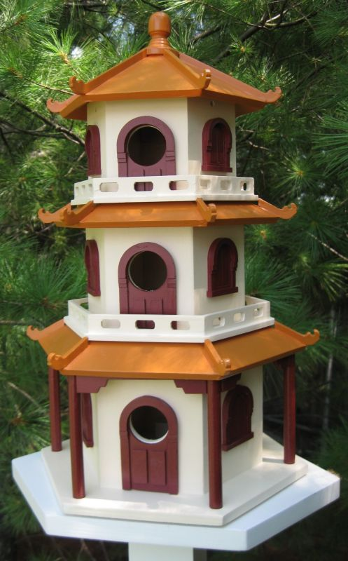 Pagoda House Birdhouse (HOME BAZAAR INC HB-9021S 812673010787 Wild Bird Supplies Bird Houses) photo