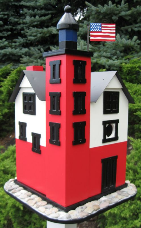 Round Island Lighthouse Birdhouse (HOME BAZAAR INC HB-9022 812673010794 Wild Bird Supplies Bird Houses) photo