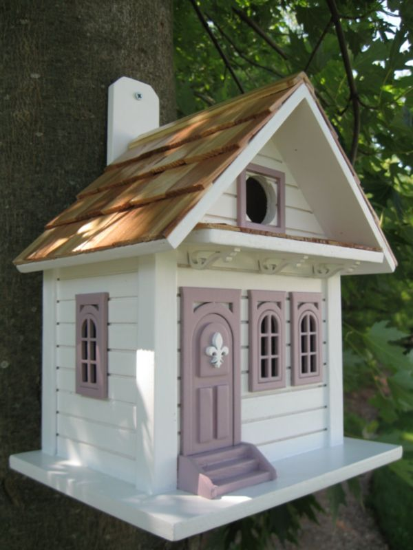 Shotgun Cottage Birdhouse White (HOME BAZAAR INC HB-9029WS 812673010831 Wild Bird Supplies Bird Houses) photo