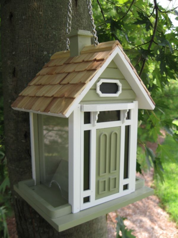 Bellport Cottage Birdfeeder Green