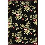 Duracord Black Marietta Outdoor Rug-8 x 10