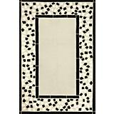 Duracord Black Mosaic Outdoor Rug-5 x 8