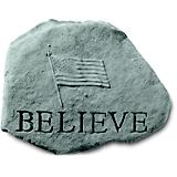 Believe Accent Rock With Flag
