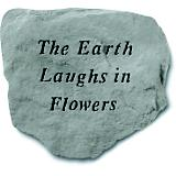 The Earths Laughs  in Flowers Accent Rock
