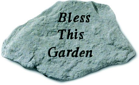 Bless This Garden Accent Rock