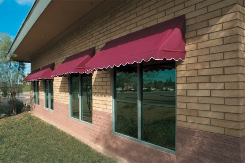Sunsational Traditional Awning Burgundy 4ft
