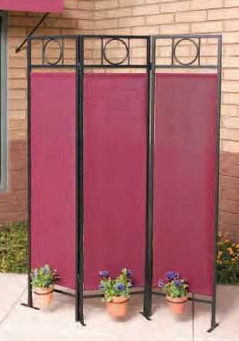 Comtemporary Privacy Screen Black-Burgundy