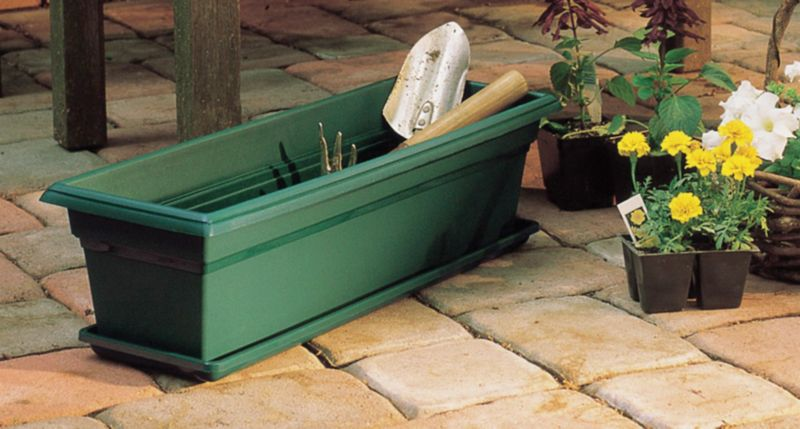 Countryside Plant Boxes 24 Inch Green