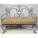 Olive Bench with Cushion