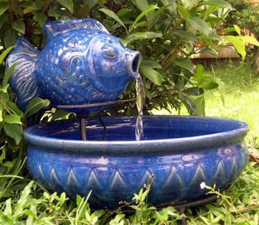 Fish Solar Fountain