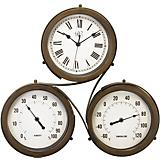 18in Triple Dial Indoor Outdoor Clock