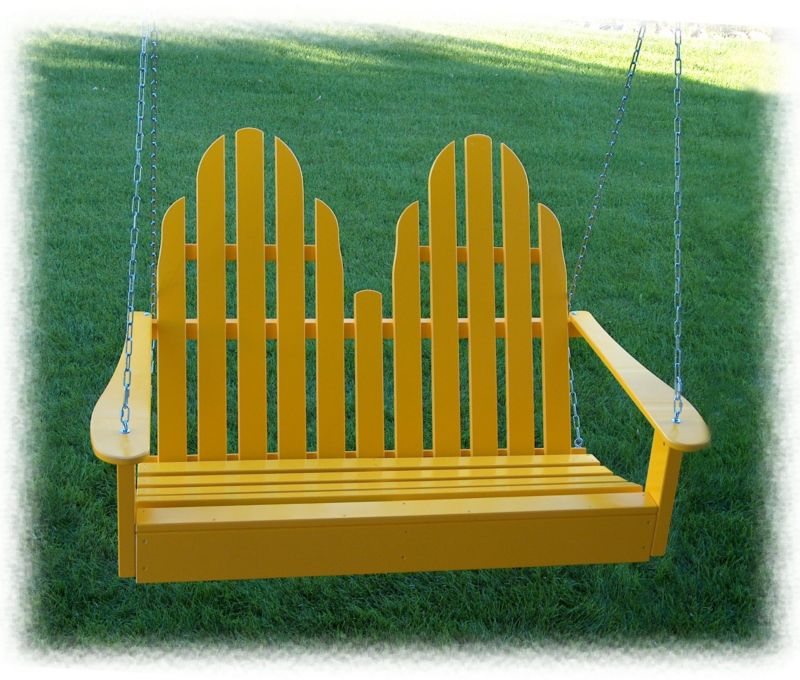 Adirondack Porch Swing Red