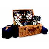 Windsor Picnic Basket-Navy with Plaid