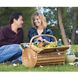 Barrel Picnic Basket-Pine Green w/Nouveau Grape