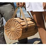 Verona Picnic Basket-Pine Green w/Nouveau Grape