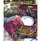 Highlander Picnic Basket-Red Tartan