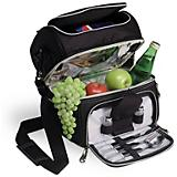 Pranzo Lunch Box-Black w/Gray and Silver